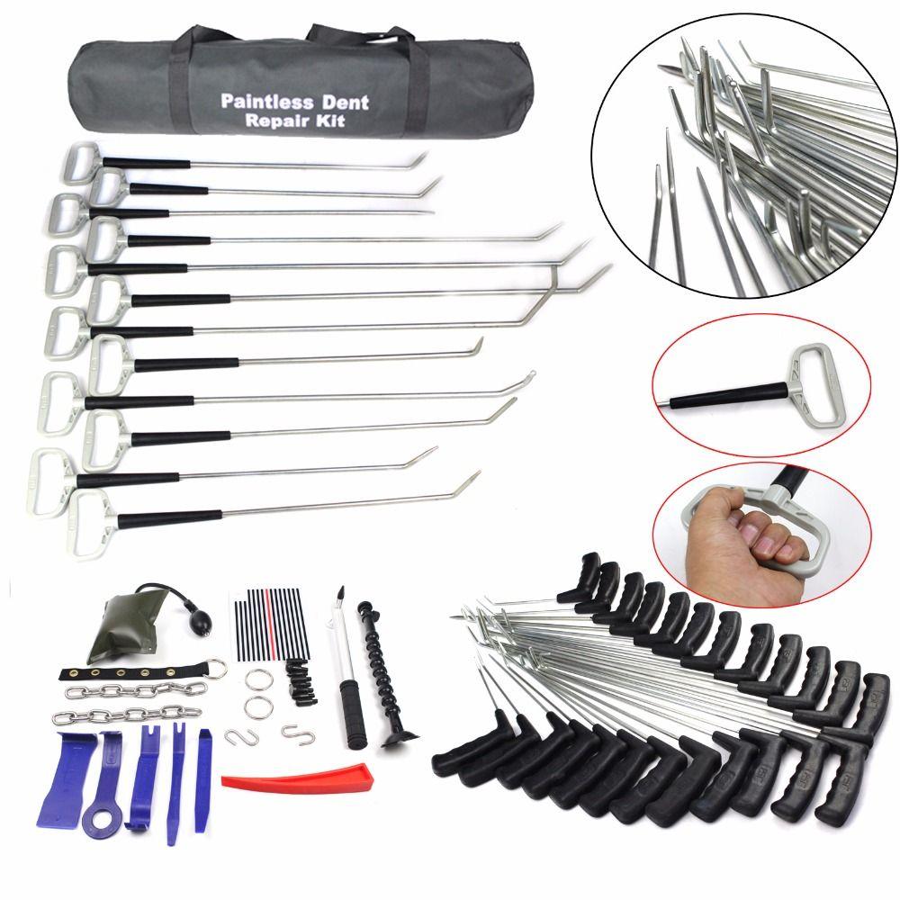 Ausbeulen ohne Reparatur Werkzeuge Dent Entfernung PDR Stangen PDR Werkzeug Hagel Entfernung Auto Körper Ding Dent Reparatur Stange Haken dent heber hammer