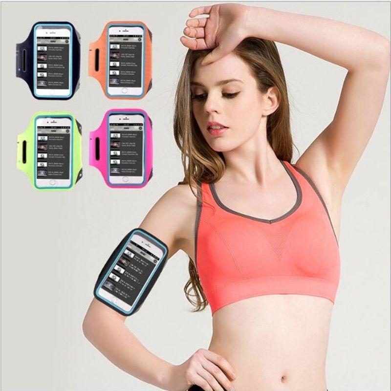 Sport Arm Band Téléphone Cas Pour iPhone 8 7 6 6 s 5S 5 se 4S Cas Pour Huawei Xiaomi imperméable à l'eau de Course 4.7 pouce Téléphone Brassards Sacs