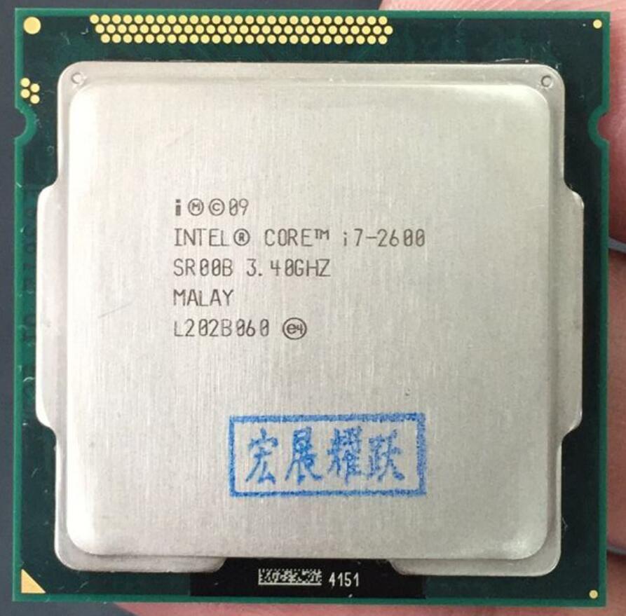 Intel Core i7-2600 i7 2600 Processor (8M Cache, 3.40 GHz) Six Core CPU LGA 1155 100% working properly PC Computer Desktop