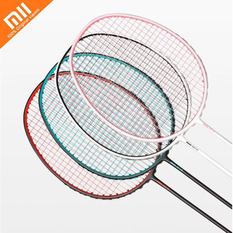 4 farben original xiaomi mijia badminton schläger hohe qualität 4U 80g sportler gewidmet badminton schläger zu 22-30 £