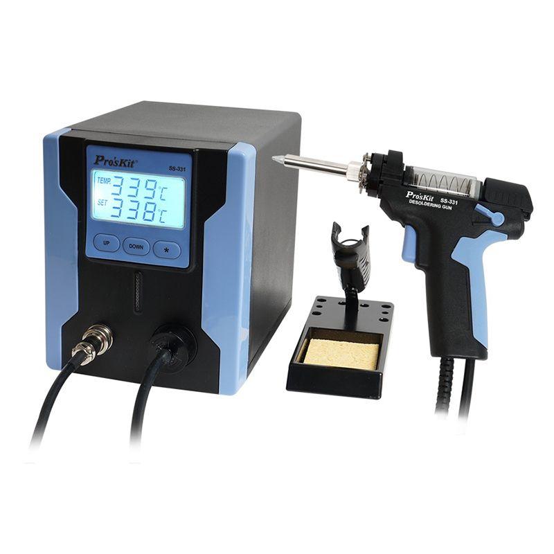 Pro'sKit SS-331H ESD LCD Digital BGA Entlöten Saug Elektrische Absorbieren Pistole Elektrische Vakuum Entlötpumpe Solder Sucker Gun