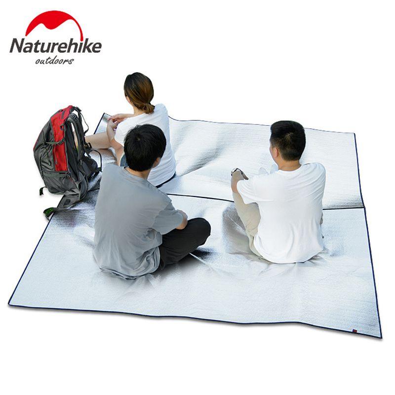 NatureHike Camping Mat Foldable Folding Sleeping Mattress Mat Pad Waterproof Aluminum Foil EVA Outdoor There Size Wholesale
