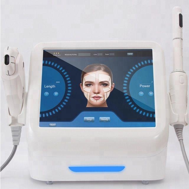 Neueste tech 2 in 1 hifu vaginalen verschärfung maschine + hautstraffung gesicht hebe maschine