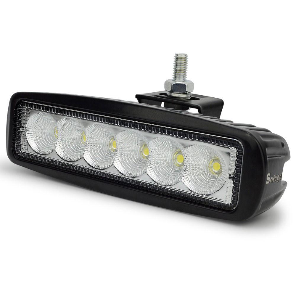 Safego 6 Inch 18 W LED lumière de travail 12 V pour tracteurs indicateur moto conduite Offroad bateau voiture camion 4x4 SUV ATV Spot inondation DRL