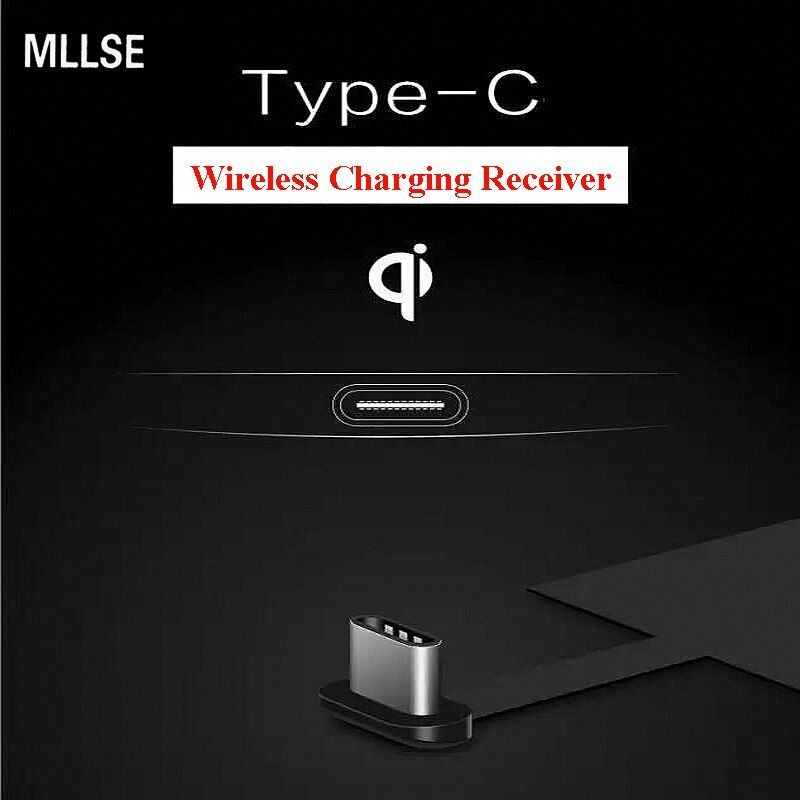 MLLSE Type-C Universal Qi Wireless Charger Charging Receiver for Huawei P9 Nova Plus Xiaomi Mi6 5S LeEco2 3 Pro Max Oneplus 2 3