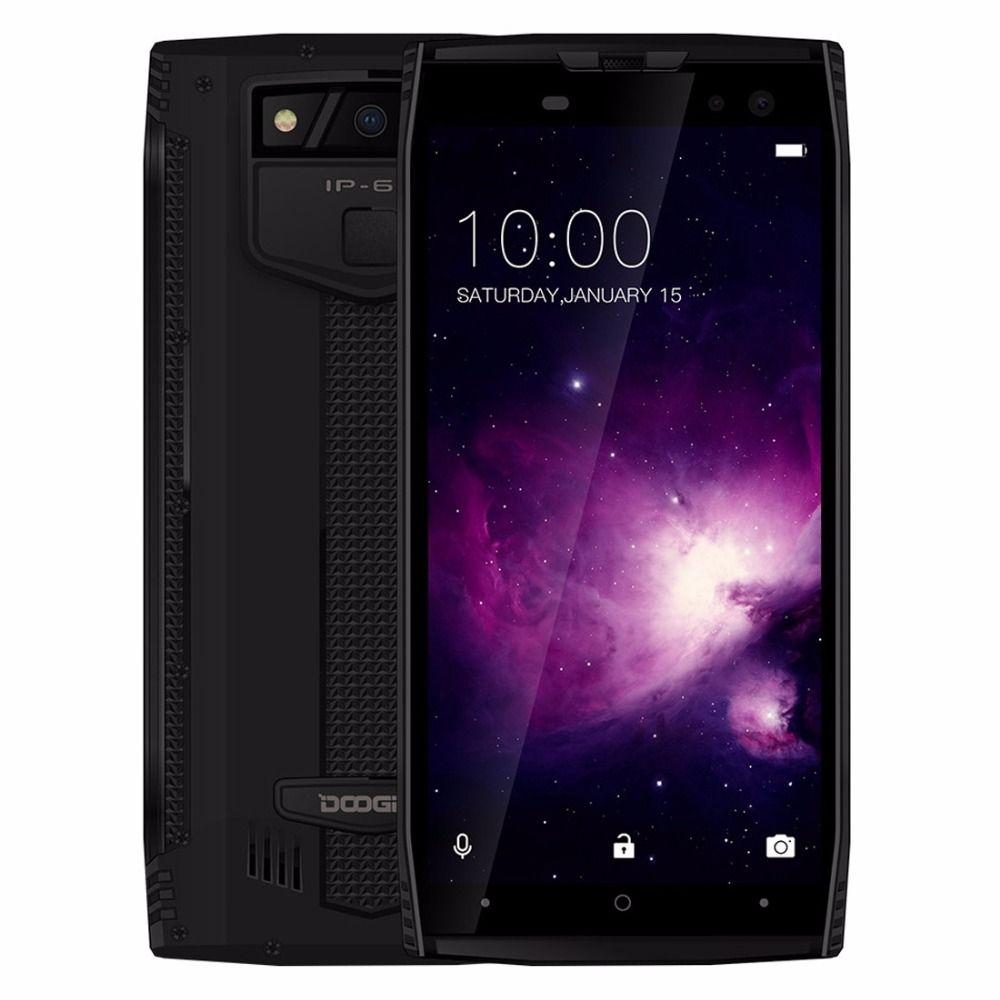 DOOGEE S50 IP68 Waterproof Smartphone 5.7'' 18:9 6GB 128GB MTK6763 Octa Core android 7.1 5180mAh 4 Cameras 16.0MP Rugged Phones