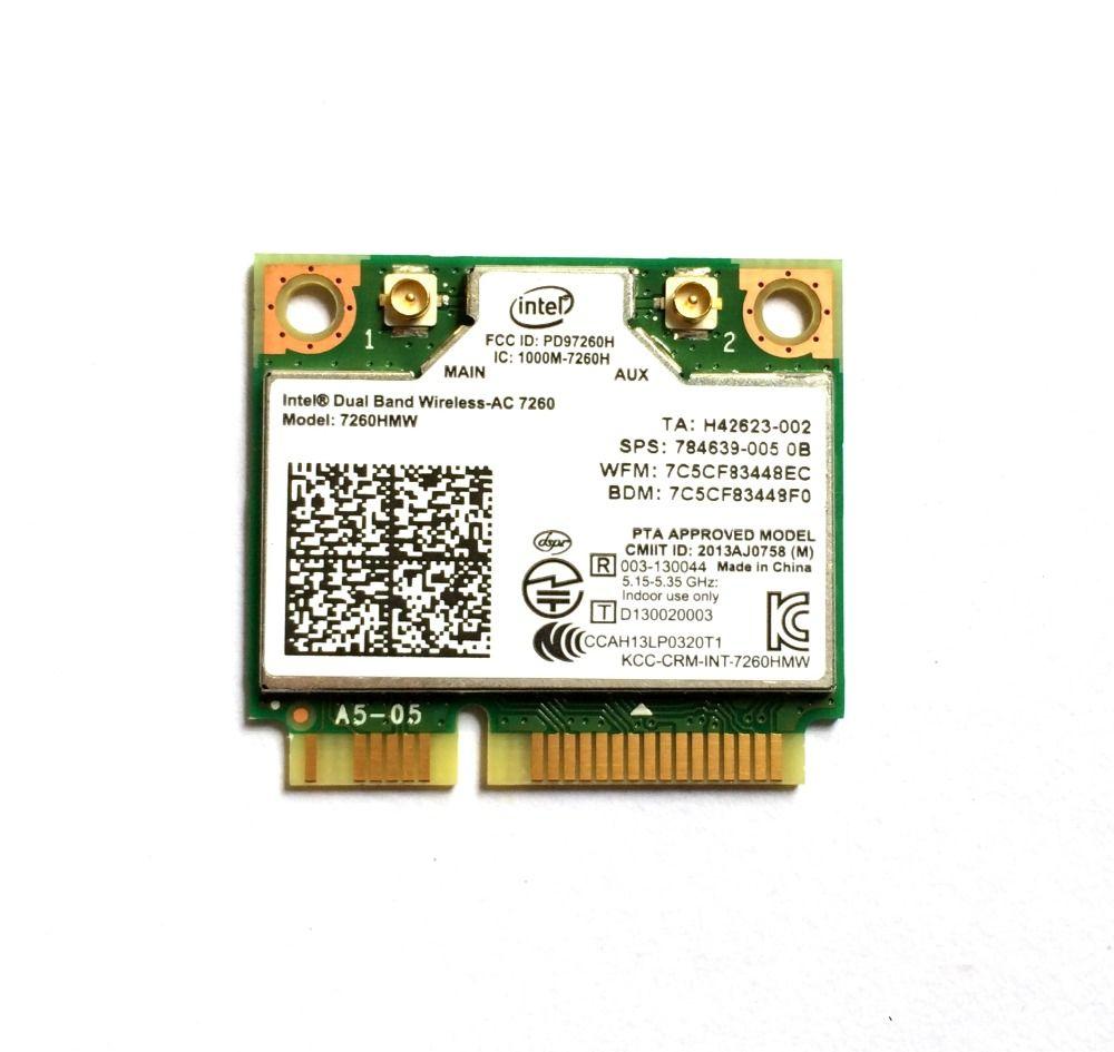 Intel double bande sans fil 7260 Intel7260 7260AC 7260HMW 2.4 & 5G 867 M BT4.0 MiniPCIe WiFi carte sans fil