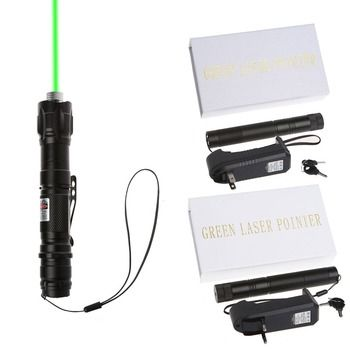 Powerful 532nm 1mw 009 Green Laser Pointer Lazer Pen Burning Beam With 18650 Battery Charger