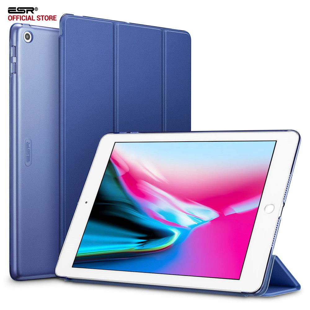 Case for iPad 9.7 2017 Cover ESR Yippee Color PU Leather+<font><b>Ultra</b></font> Slim Light Weight PC Back Cover Case for New iPad 2018 9.7