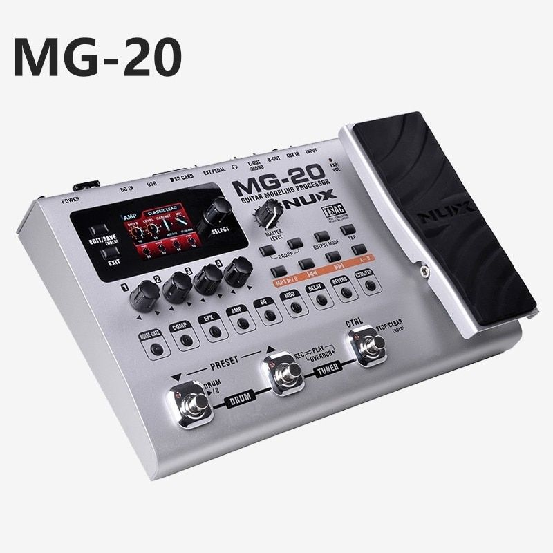 Electric guitar effector multi-function guitar composition upgrade stylesound tuner drum machine Integrated digital effects