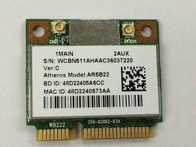 Atheros AR9462 AR5B22 WB222 Half Mini PCIe 300M+ Bluetooth4.0 WLAN Wifi Wireless Card