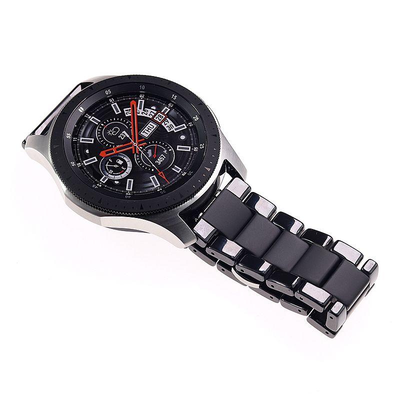 Bracelets de montre en céramique pour samsung gear s2 S3 bande 20 22mm bracelet de montre gear s3 montre bracelet huawei montre gt galaxy montre 46mm42mm