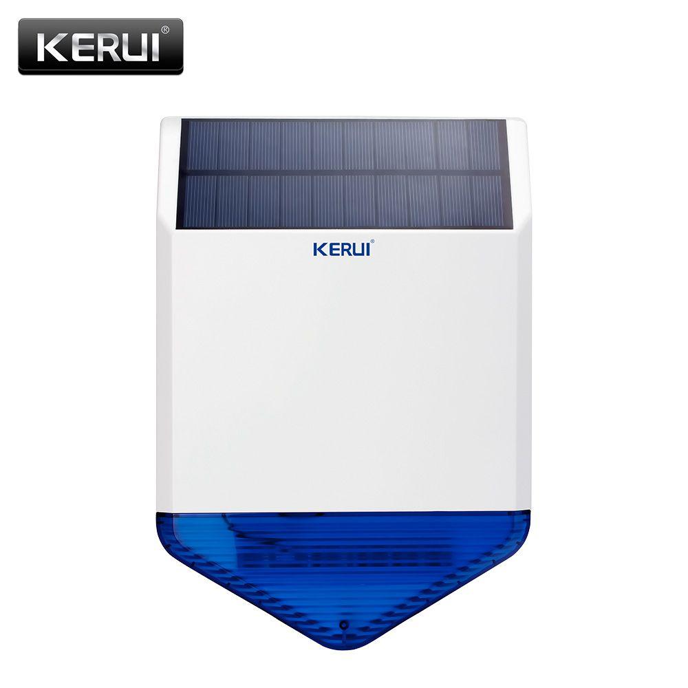 Original KERUI wireless outdoor Solar sirene panel KR-SJ1 Für KERUI Alarmsystem sicherheit mit blinkenden antwort sound