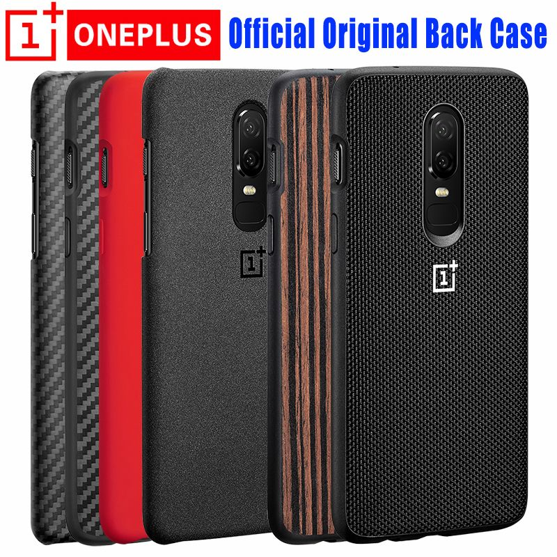 Oneplus 6 Case 100% Original Official Sandstone Karbon Wood Silocne OnePlus6 Nylon Case One Plus 6 Case Protection Back Cover
