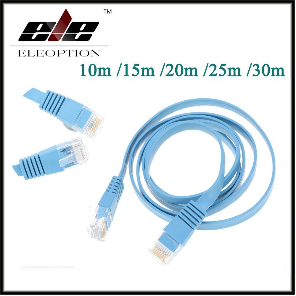Haute vitesse Cat6 Ethernet câble plat RJ45 ordinateur LAN Internet réseau cordon 10 m 15 m 20 m 25 m 30 m
