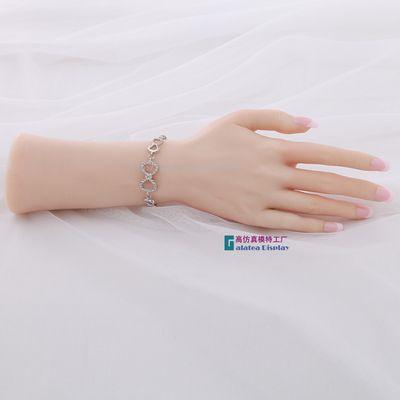 Rechts Weibliche Weichem Silikon Flexible Schaufensterpuppe Hand Für Ring Armband Und Handschuh Display