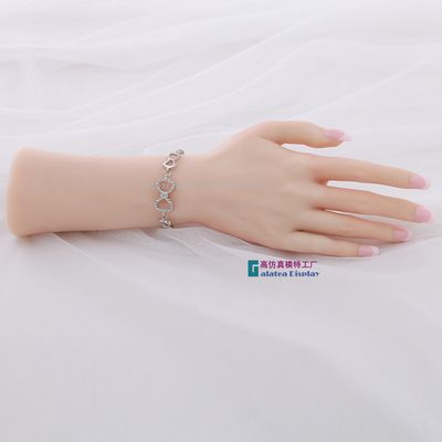 Right Female Soft Silicon Flexible Mannequin Hand For Ring Bracelet And Glove Display