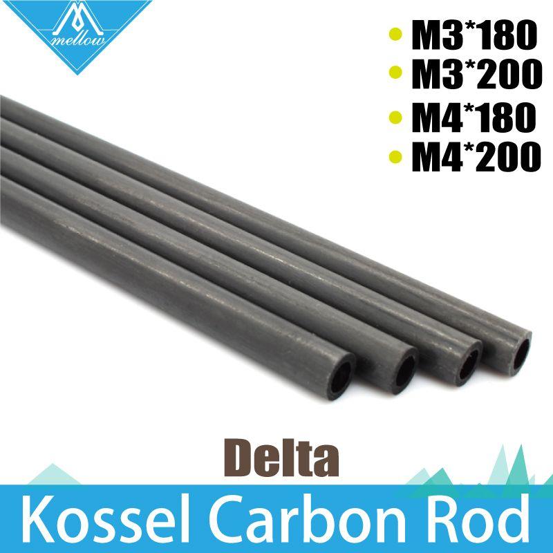 1Set  3D Printer Accessories Kossel Delta Kossel 5*3mm 6*4mm 18cm 20cm Fiber Carbon Rod Parallel Arm Suitable for Mini 5347
