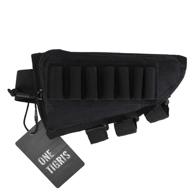 OneTigris tactique Buttstock fusil de chasse Stock munitions Portable poche coquille porte-cartouche poche pour la chasse en plein air survie