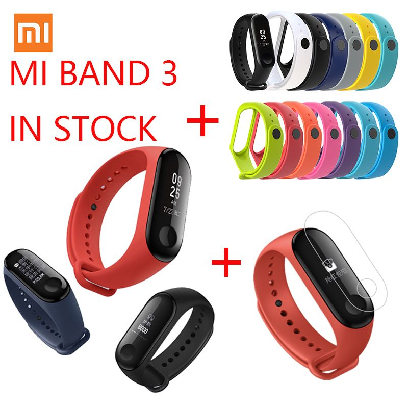 Xiaomi Mi Band 3 MI Fit 3 Fitness Bracelet Tracker NFC 5ATM Waterproof MI Band 2 Touch Screen Heart Rate Monitor Smart Wristband