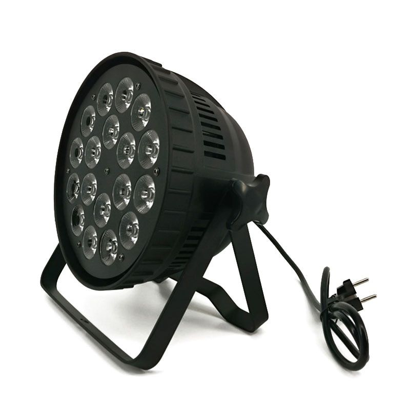 LED Par Can 18x18W RGBWA+UV DMX Stage Lights Business Light High Power Light with Professional for Party KTV Disco DJ
