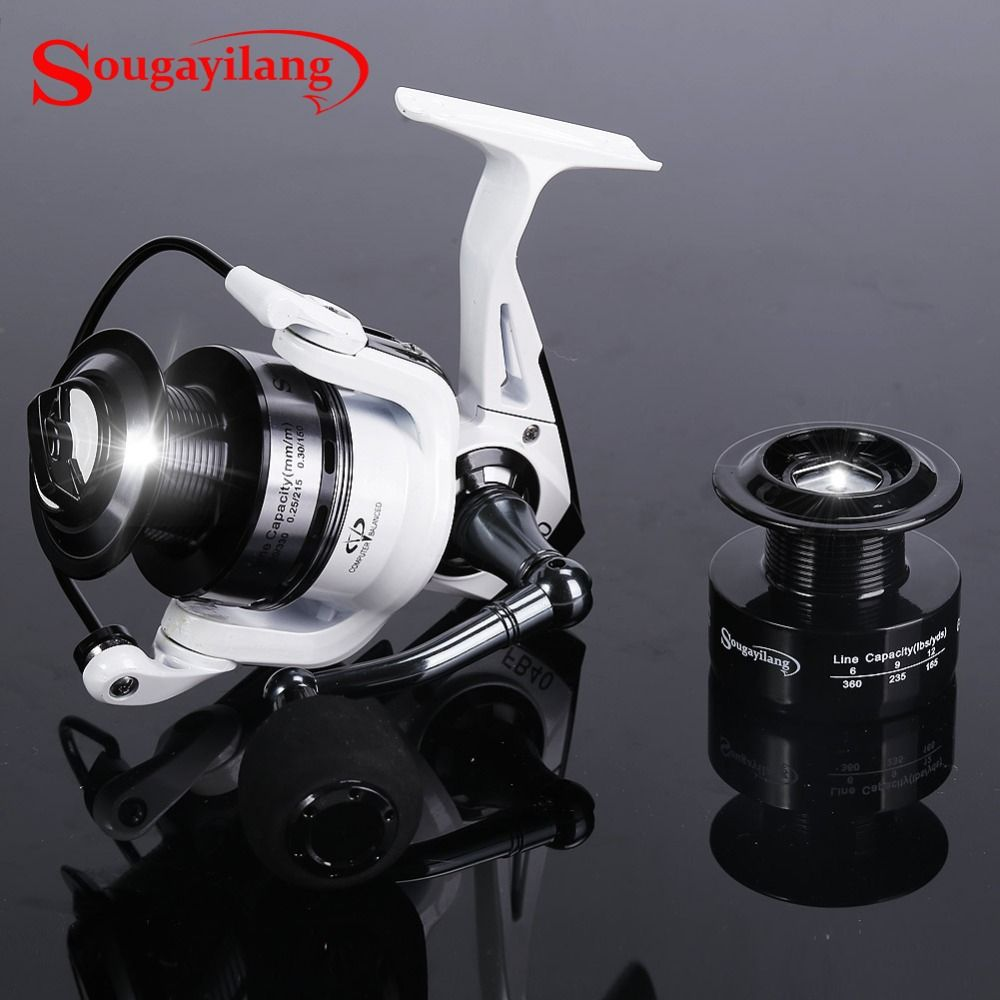 Sougayilang Spinning Fishing Reel FB2000-5000 Fish Coil Wheel Baitcasting Fishing Reel Spinning Reel With Spare Spool de pesca
