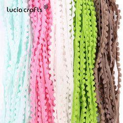 2yards/12yards/24yards 10mm Pom Pom Trim Ball Braid Lace Fringe Ribbons Fabric DIY Sewing Handmade Accessory 17011001