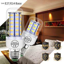 E14 Maïs Ampoule Led Lampe E27 220 V LED 24 36 48 56 69 72 led Lampada Bougie Ampoule SMD 5730 Bombillas Led Feux d'économie D'énergie ampoule