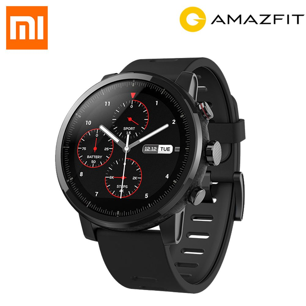 Original English Version Xiaomi HUAMI AMAZFIT Stratos GPS Smart Sports Watch 2S /2 Version 5ATM Waterproof 4GB Music Storage