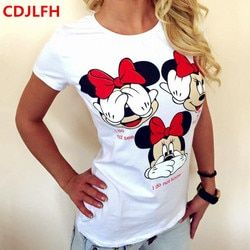 CDJLFH T-shirts De Femmes De Mode D'été T-shirt Court Imprimé Tops Kawaii T-Shirt 2018 Sexy Drôle Feminino T-shirts T-shirt Féminin