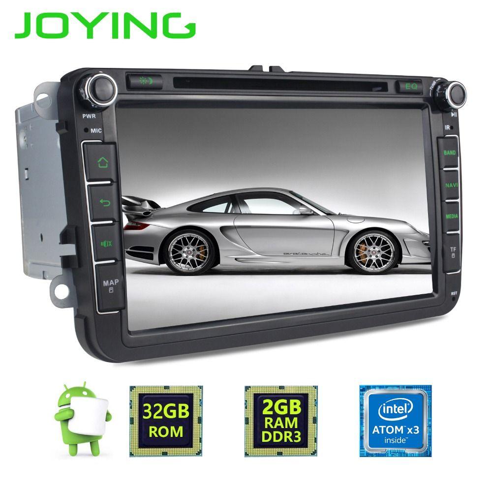 Joying 2 Din Android 6.0 Quad Core 2GB+32GB 1024*600 Car Stereo Radio GPS Navigation For VW Skoda POLO GOLF PASSAT CC Head Unit