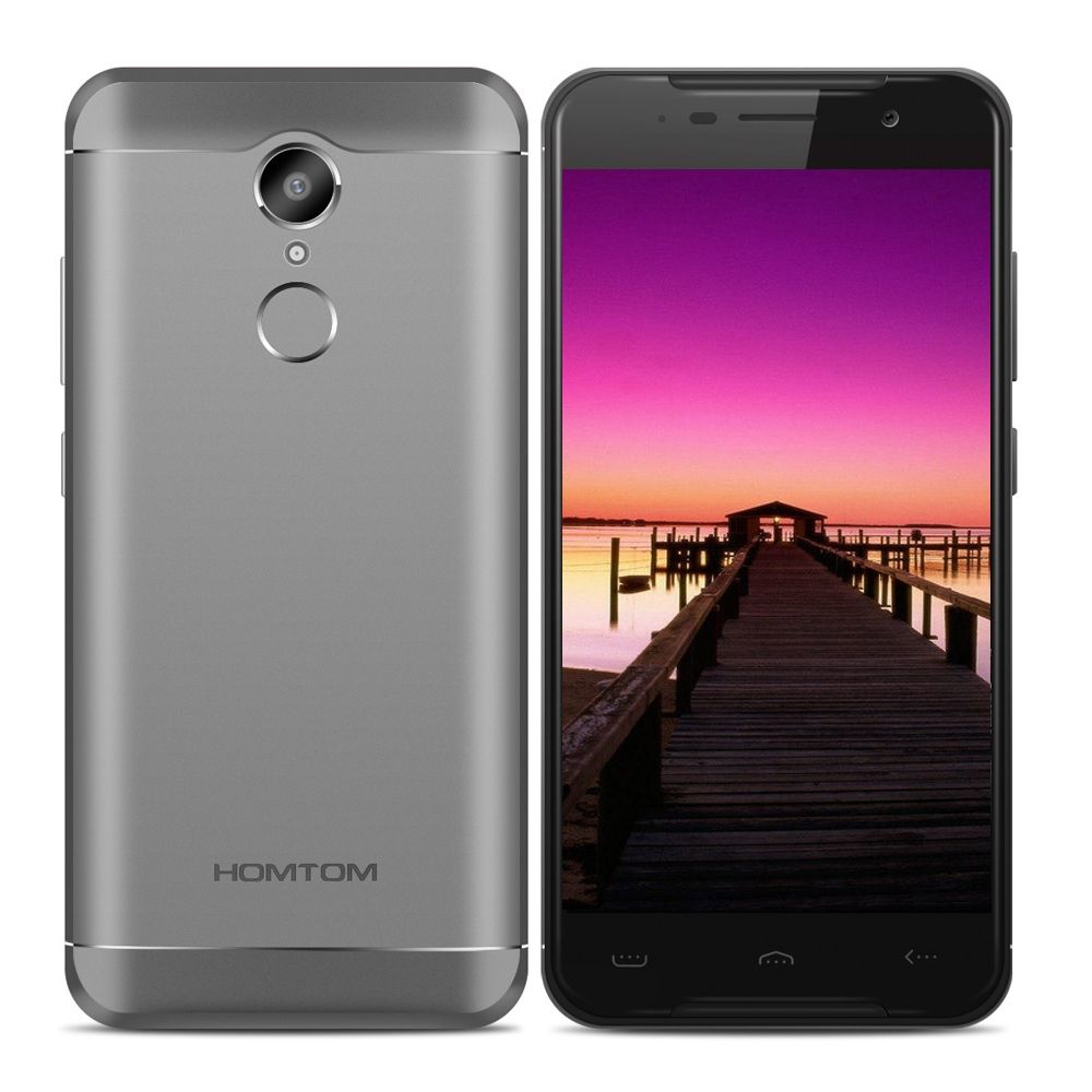 HOMTOM HT37 PRO Original 4G Smartphone Android 7.0 3GB + 32GB 5.0 Inch MTK6737 1.3GHz Quad Core 13.0MP HD Screen Mobile Phone