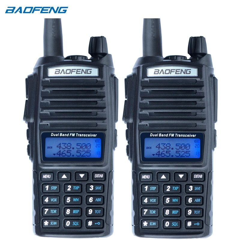 2Pcs Baofeng UV-82 Walkie Talkie CB Radio UV 82 Portable Two Way Radio FM VOX Transceiver Dual Band Long Range UV82 Ham Radios