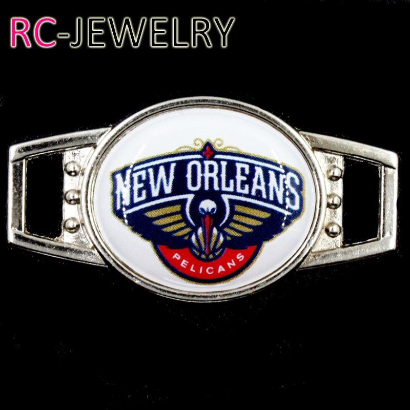 New Orleans  Shoelace Buckle Charms Basketball Team Charms For New Sneakers Sport Shoes Paracord Bracelets Decoration