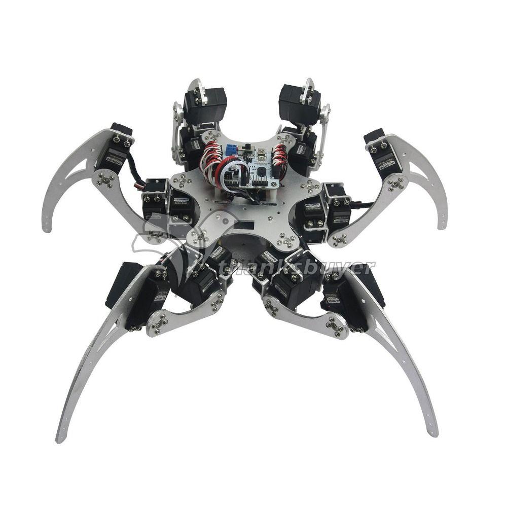 18DOF Aluminium Hexapod Spinne Sechs Beine Roboter Kit & Controller Full Set & MG996R Servos & Servo Horn