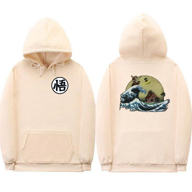 Off white hoodies Print cartoon Turtle Goku dragon ball hoodie poleron hombre Streetwear sudadera dragon ball hoodie sweatshirt