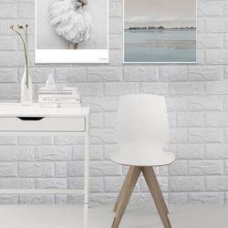 PE Busa 3D Dinding Dekoratif Stiker DIY Safty Rumah Dekorasi Dinding Wallpaper Bata Dekorasi Adesivo De Parede 60X60 CM 30X60 Cm