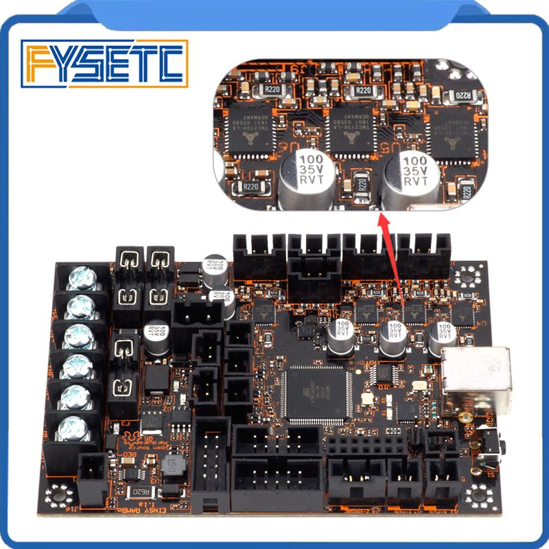 EinsyRambo 1.1a Mainboard For Reprap Prusa i3 MK3 With 4 Trinamic TMC2130 Stepper Drivers SPI Control 4 Mosfet Switched Outputs