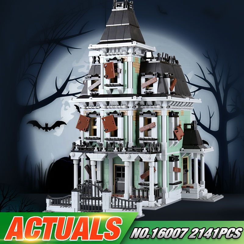 New LEPIN 16007 2141Pcs Monster fighter The haunted house Model set Building Kits Model Compatible With 10228