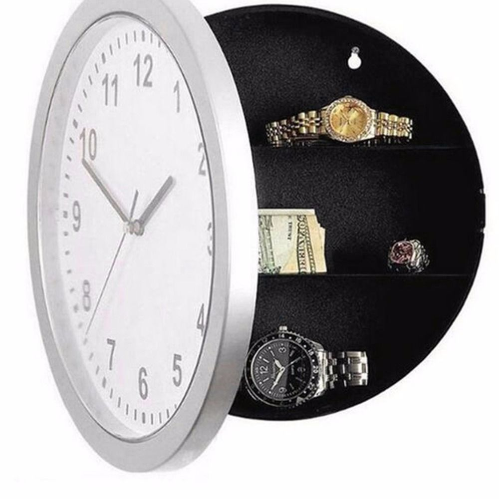 Hidden Secret Large Wall Clock Money Box Safe Stash Jewellery Stuff Storage Container Cofre Piggy Bank Tirelire Salvadanaio
