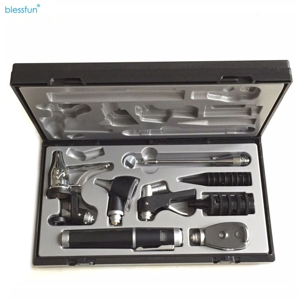 Upgrade Enhanced Version Medical Diagnositc ENT Kit Direct Ear Care Otoscope and Ophthalmoscope Diagnosis Set Multi Purpose