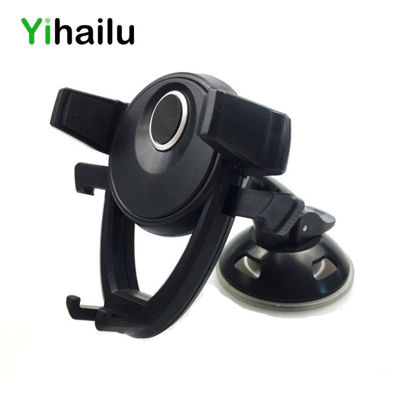 Mini Voiture Support de Téléphone Magnétique Clip Téléphone Portable GPS Stand Sucker Support de fixation pour iPhone Samsung Huawei Xiaomi LG Sony Moto