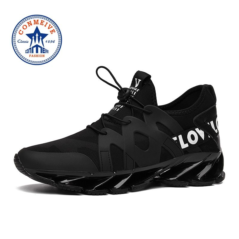 New Arrival Cushioning Man Sneakers Spring Summer PU+Fabric Light Breathable Brand Men Running Shoes