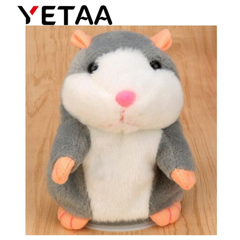 YETAA Sweet Animals Talking Toys for Children Stuffed & Plush Cutie Gift Hamster Sweetie Toy Speaking Sound Record Hamster Dolls