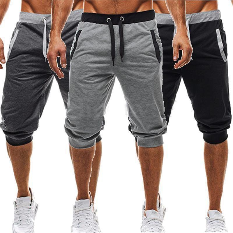 New Fashion Mens Baggy Jogger Casual Slim Harem Short Slacks Casual Soft Cotton Trousers Shorts
