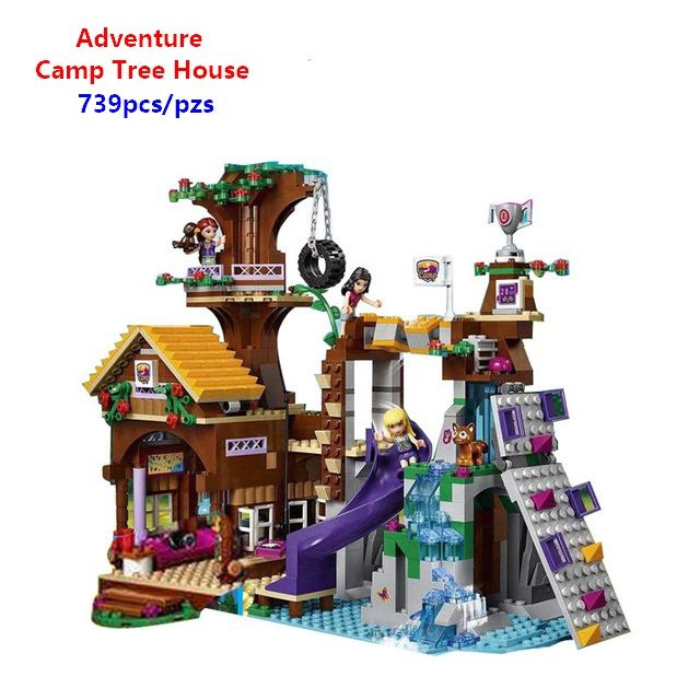 Compatible with Lego 41122 New Friends Adventure Camp Tree House Building Brocks Emma Mia Figures Educational toys Best Gift