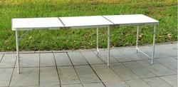 180*60*70 CM Aluminium Alloy Lipat Meja Berkemah Meja Piknik Meja Meja Portabel Barbekyu Luar Ruangan