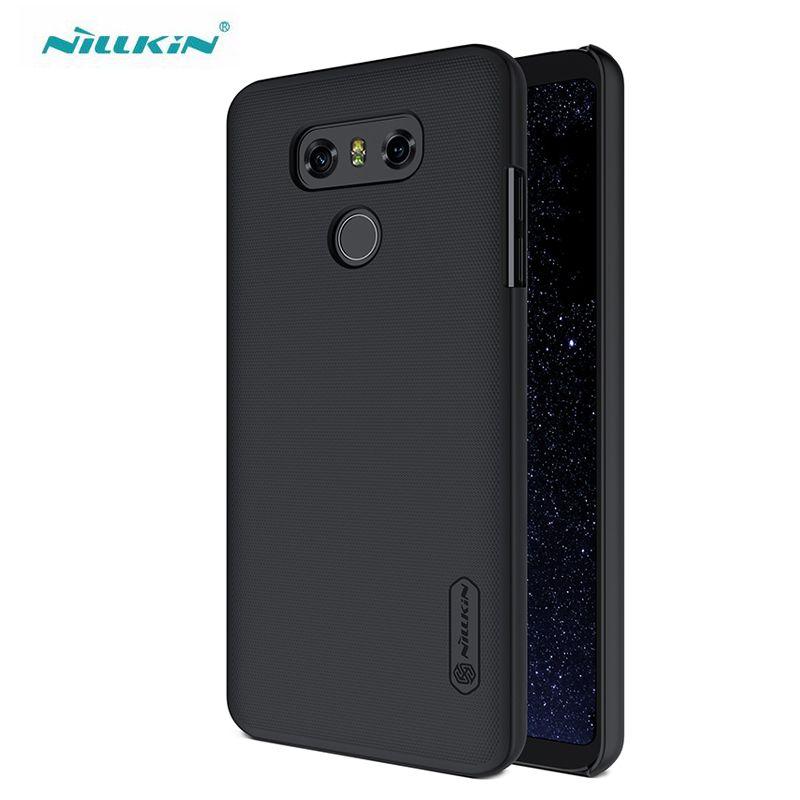 Pour LG G6 étui Nillkin Super givré bouclier PC étuis durs pour LG G6 housse de Protection de téléphone avec protecteur d'écran