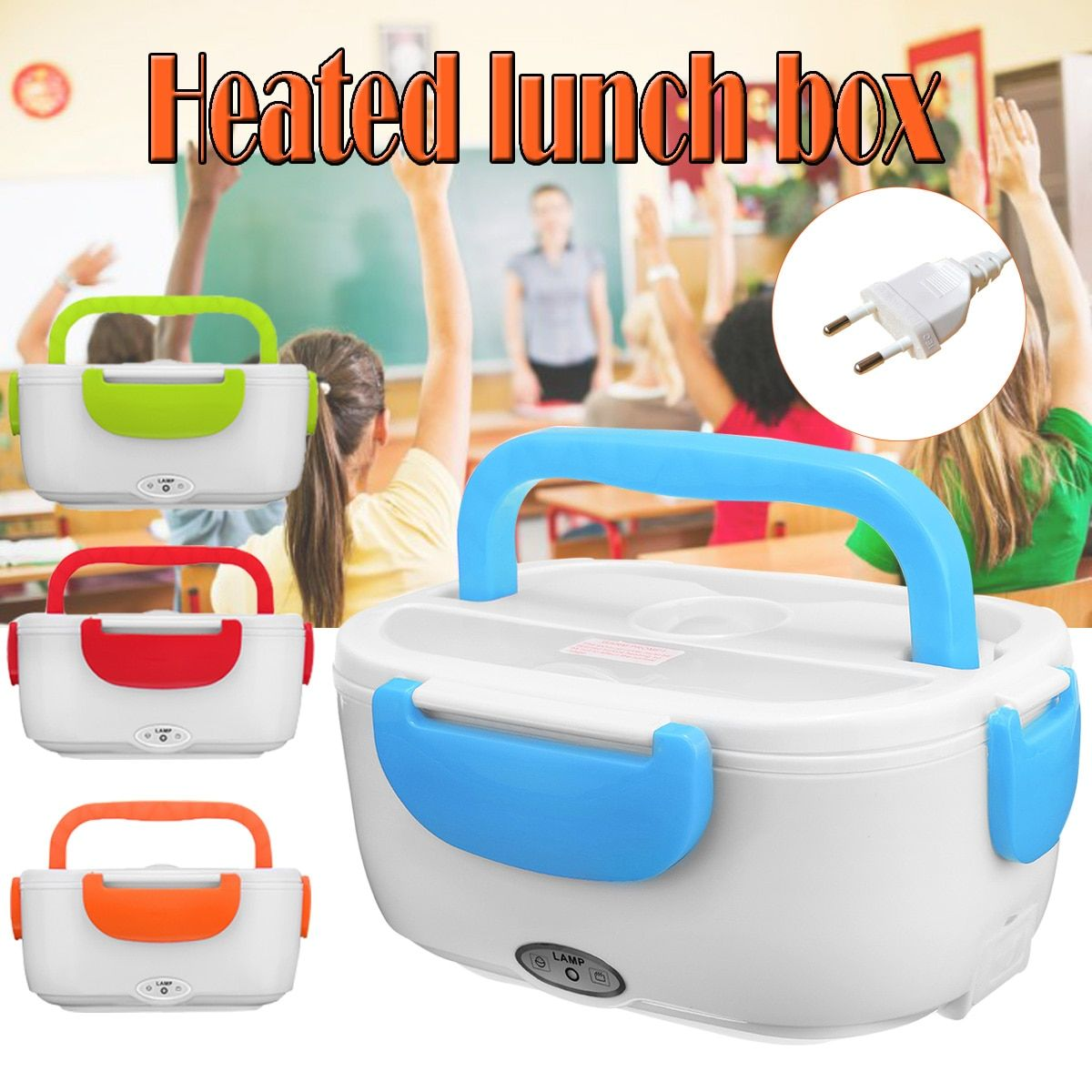 220V 1.2L Portable Electric Heating Lunch Box Bento Storage Office School Heating Rice Container Food Warmer Lunchbo