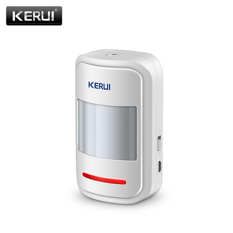 KERUI Wireless Detector de Movimiento PIR Sensor de Alarma Inteligente Para GSM y PSTN Sistema de Alarma de Ladrón del Hogar de Seguridad antena Incorporada